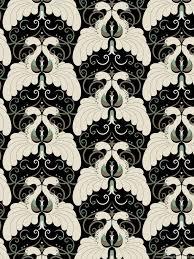art deco pattern motif peacock wallpaper designer desktop background