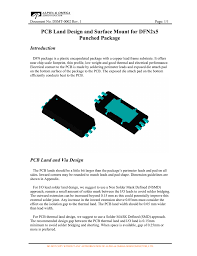 Smd Pad Design Pcb Land Design And Surface Mount For Dfn2x5 Punched