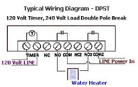 how to wire a water heater timer control water heater timer wiring diagram time clock water heater
