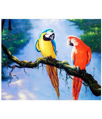 Fabric Painting Designs Of Birds Vf Designer Fabric Painting Without Frame Single Piece Buy