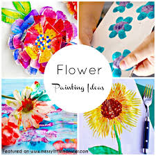 flower painting ideas for kids