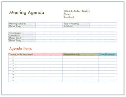 Templates For Meeting Agenda 7 Staff Meeting Agenda Templates Samples In Word Pdf Format