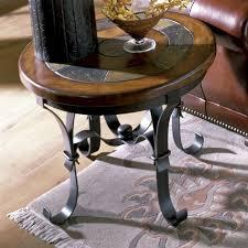 riverside stone forge round end table hayneedle masterr