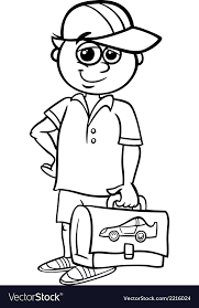 grade student coloring book vector image