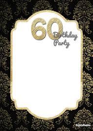 Free Printable 60th Birthday Invitations Birthday Invitation Examples