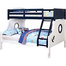 homes inside out iohomes rancourt nautical bunk bed twin full blue and white