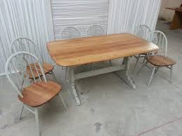 ercol refectory table and 6 chairs upcycled in farrow ball dining gumtree adelaide