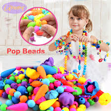 Pop Beads 100PCS Pop Arty Snap Together Beads for Kids ...