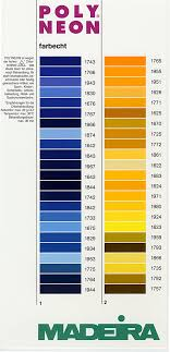 Exquisite Thread Color Chart Madeira Thread Chart Color List