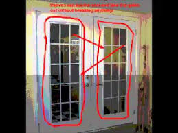 Plain French Door Security Bar Youtube Intended Design Decorating