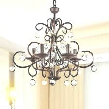 chandelier with crystal accents full image for wrought iron regarding oversized wrought iron chandeliers with