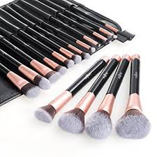makeup brush set anjou 16pcs professional cosmetic brushes with soft and free synthetic fiber