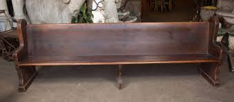 solid oak church pew with rounded ends can be cut down to shorten the length