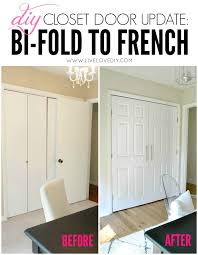 french closet doors diy. Dislike Of Bi-fold Is Strong With This Girl. DIY Closet Door Update: How To Update Your Old Doors Modern French Doors! Such An Easy Update! Diy O