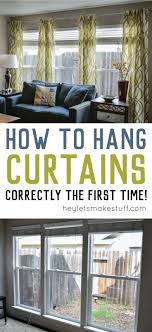 Hanging curtains doesn't have to be a pain! Learn how to hang curtains