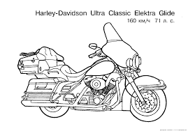 Masc Fan Colouring Pages: Harley Davidson Motorcycle Coloring ...