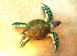 metal sea turtle wall art family decor outdoor a t twork tropical ocean