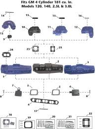 mercruiser gm 4 cylinder 120 140 2 5l 3 0l sterndrive exhaust mercruiser gm 4 cylinder 120 140 2 5l 3 0l sterndrive description mercruiser sterndrive exhaust manifold exploded view