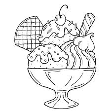 Ice Cream Coloring Pages The Sun Flower Pages
