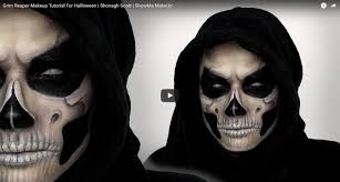 grim reaper makeup tutorial for shonagh scott