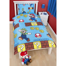 super mario brothers childrens kids coins single duvet cover bedding set utkb845