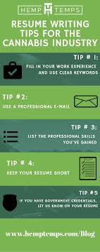 Resume Writing Tips For The Cannabis Industry
