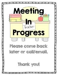 Do Not Disturb Meeting In Progress Sign Meeting In Progress Sign Do Not Disturb By Research And Play Tpt