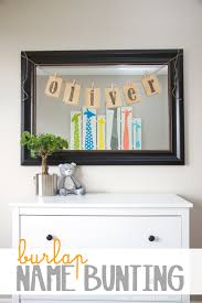 diy burlap name bunting for baby nursery or any other room