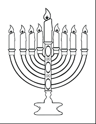 Hanukkah Menorah Coloring Pages And Dreidel Stole Free Printable