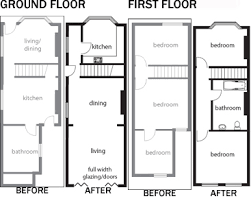Remodelling a Terrace   Homebuilding  amp  Renovating   Floor plans    Remodelling a Terrace   Homebuilding  amp  Renovating   Floor plans terraces   Pinterest   Terrace  London and Home