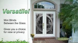 mini blinds between the glass in plastpro fiberglass doors