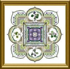 Violet Patch Mandala The Cross Stitch Pattern