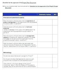 Simple Checklist Template Project Review Template Excel Project Management Checklist Template