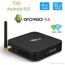 TX6 TV Box Android 9.0 4GB 32GB DDR3 Allwinner H6 EMMC 2.4G5G WiFi  Bluetooth 4.2 Smart Set Top Box From Smartview, $35.99
