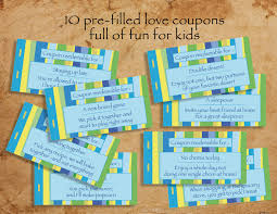 kids printable love coupon book blank pre filled love 🔎zoom