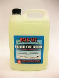 details about back set 5 litre molecular cement dissolver turns hard set cement into mud