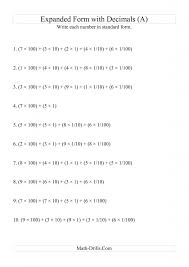 Grade Writing Expanded Numbers In Standard Form (3 Digits Before ...