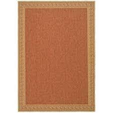 byzantium terracotta beige 4 ft x 6 ft indoor outdoor area rug