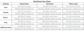 Bed Chart Sheet Sizes King Bed Bed Sheet Sizes Chart Nice King Size