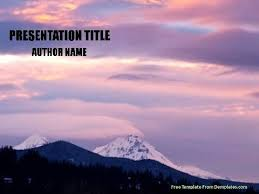 Mountains Powerpoint Template - Demplates