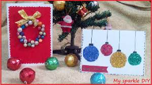 Diy Christmas Cards Diy Christmas Cardsornaments And Wearth Easy Holiday 12 Youtube