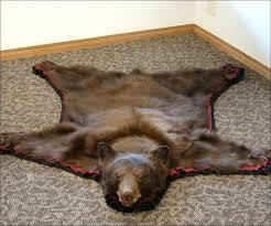 black bear rug real rugs living room fabulous for s black bear rug