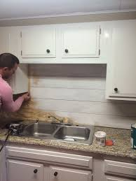 Kitchen Backsplash How To Install Stunning Kitchenette Shiplap Backsplash In 48 DIY Home Projects