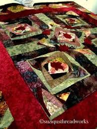Vintage Velvet Log Cabin Mini Quilt Top | Bedroom re-do Red Green ... & Rich Velvet Silk and Satin Quilt Adamdwight.com