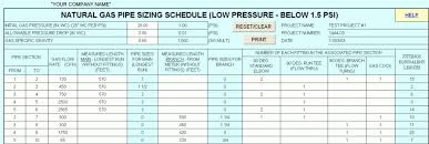 2 Psi Gas Pipe Sizing Chart Propane Line Sizing Online Charts Collection