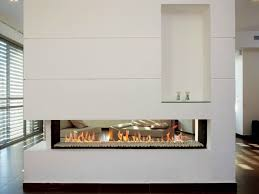 image of double sided electric fireplace cabinets