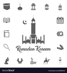 Fasting Icon Ramadan Kareem Eid Mubarak