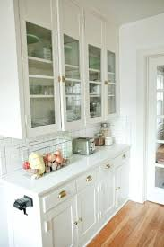 Glass Front Kitchen Cabinets White Glass Door Kitchen Cabinet Sequimsewingcentercom