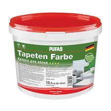 <b>Краска в/д</b> Pufas для <b>обоев</b> Tapeten Farbe oснова А (10 л) купить ...