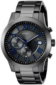 buy guess men s u0668g2 dressy gunmetal stainless steel multi buy guess men s u0668g2 dressy gunmetal stainless steel multi function watch chronograph dial and deployment buckle online at low prices in